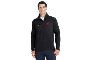 P - Spyder Men's Transport Quarter-Zip Fleece Pullover